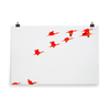 Scarlet Ibis flying in formation-print