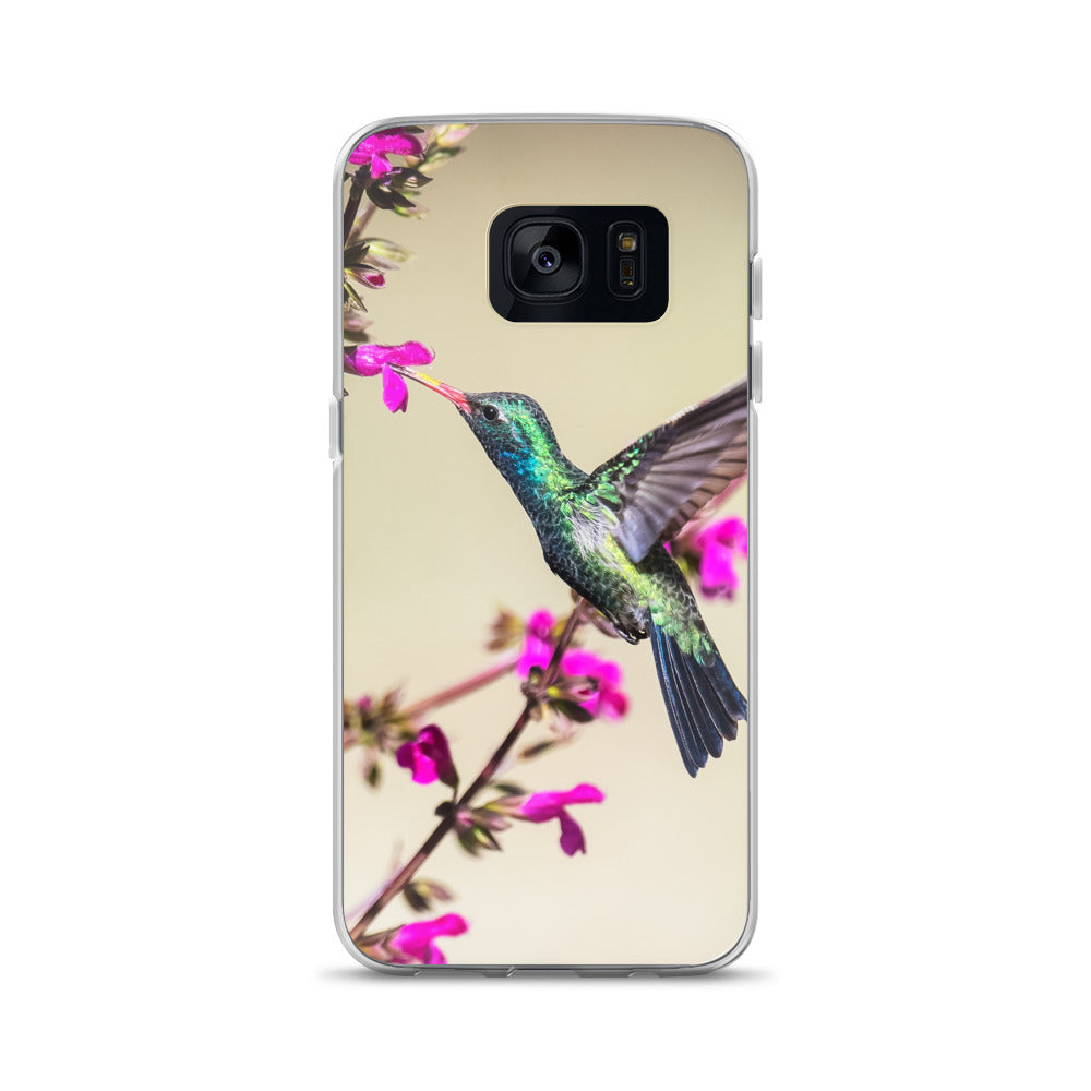 Samsung Phone Case with Hummingbird