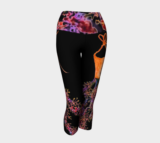 Barella Girl Orange Blossom Black Yoga Capris