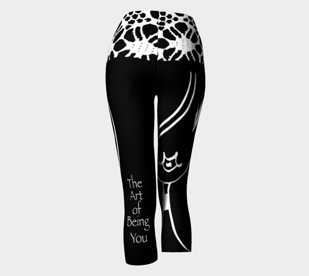 Barella Girl Black and White Basic Face Capris