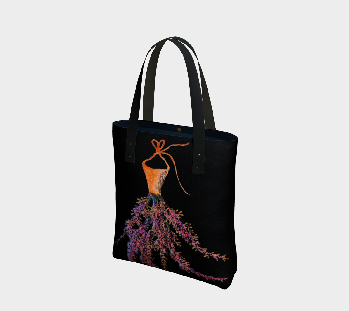 Barella Girl Orange Blossom Black Tote Bag