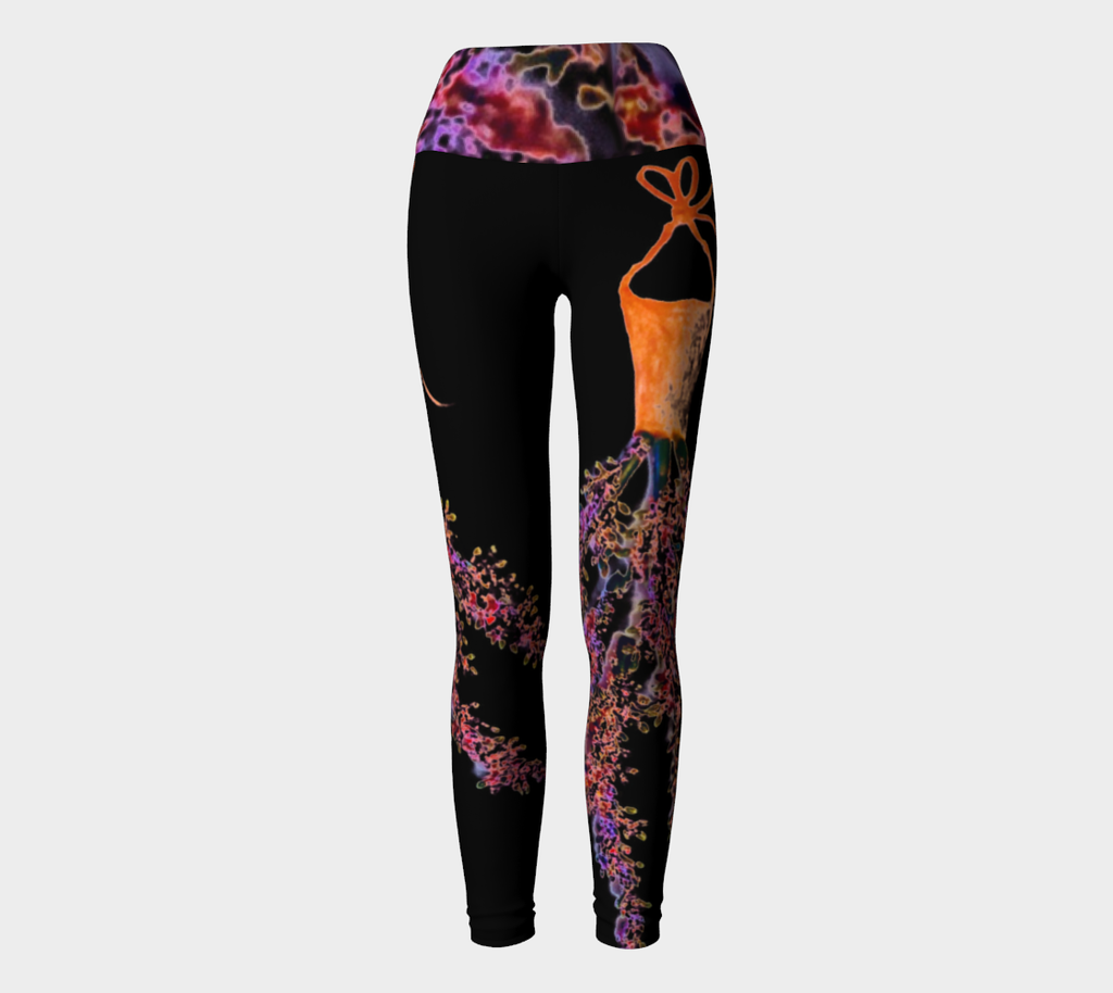 Barella Girl Orange Blossom Black Yoga Leggings