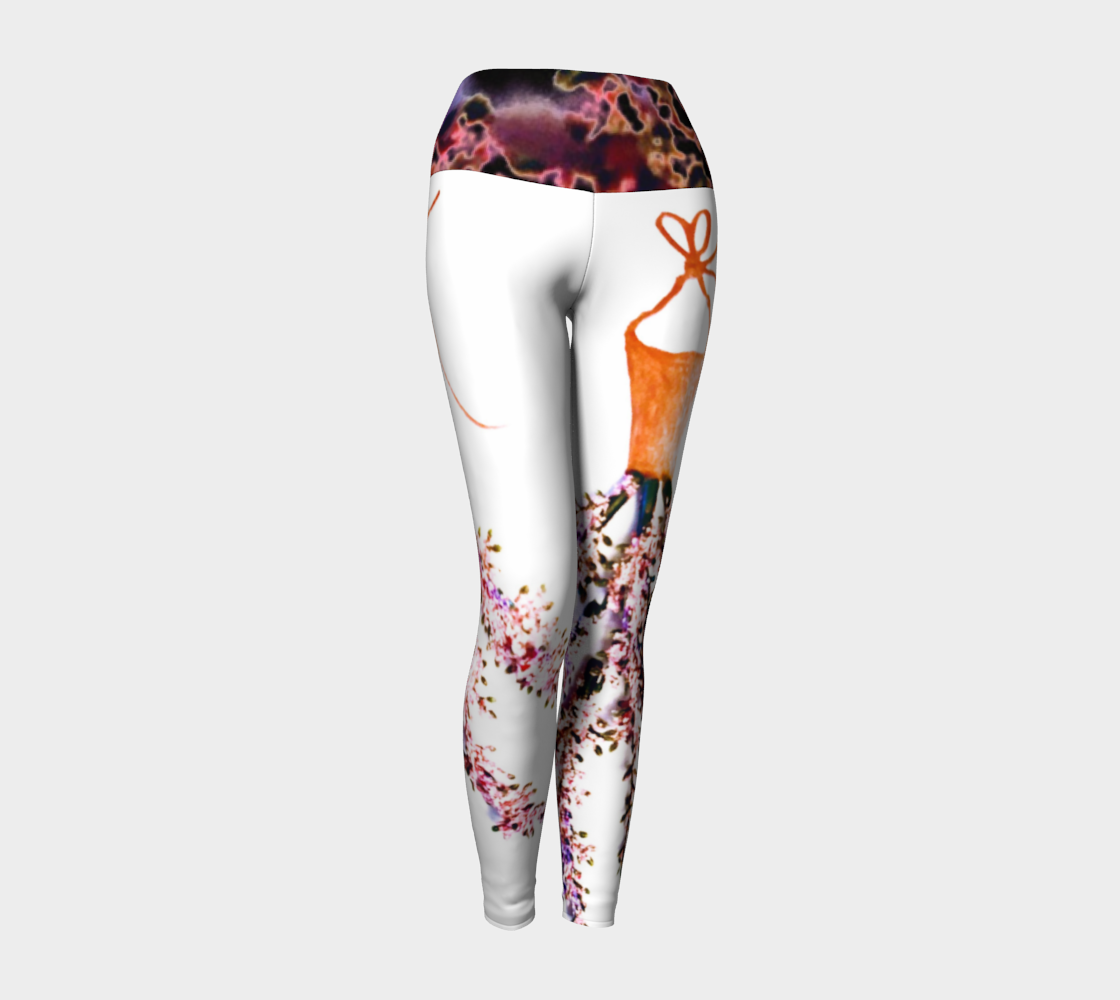 Barella Girl Orange Blossom White Yoga Leggings