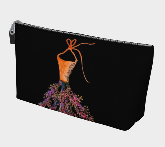 Barella Girl Orange Blossom Black Makeup Bag