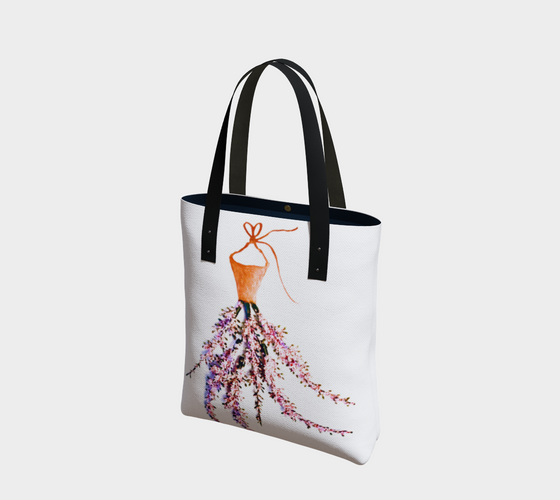 Barella Girl Orange Blossom White Tote Bag