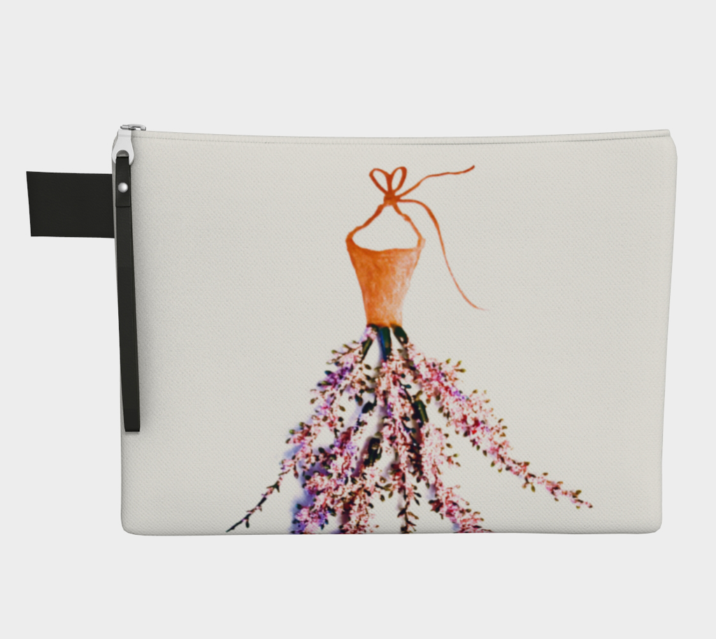 Barella Girl Orange Blossom White Zipper Carry All