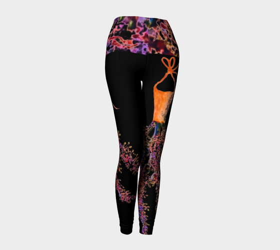 Barella Girl Orange Blossom Black Leggings