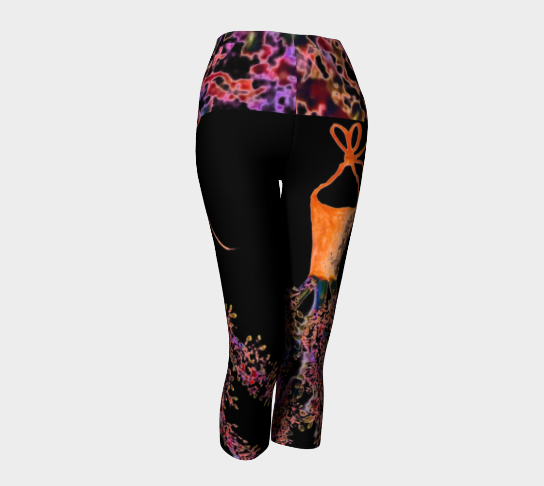 Barella Girl Orange Blossom Black Capris