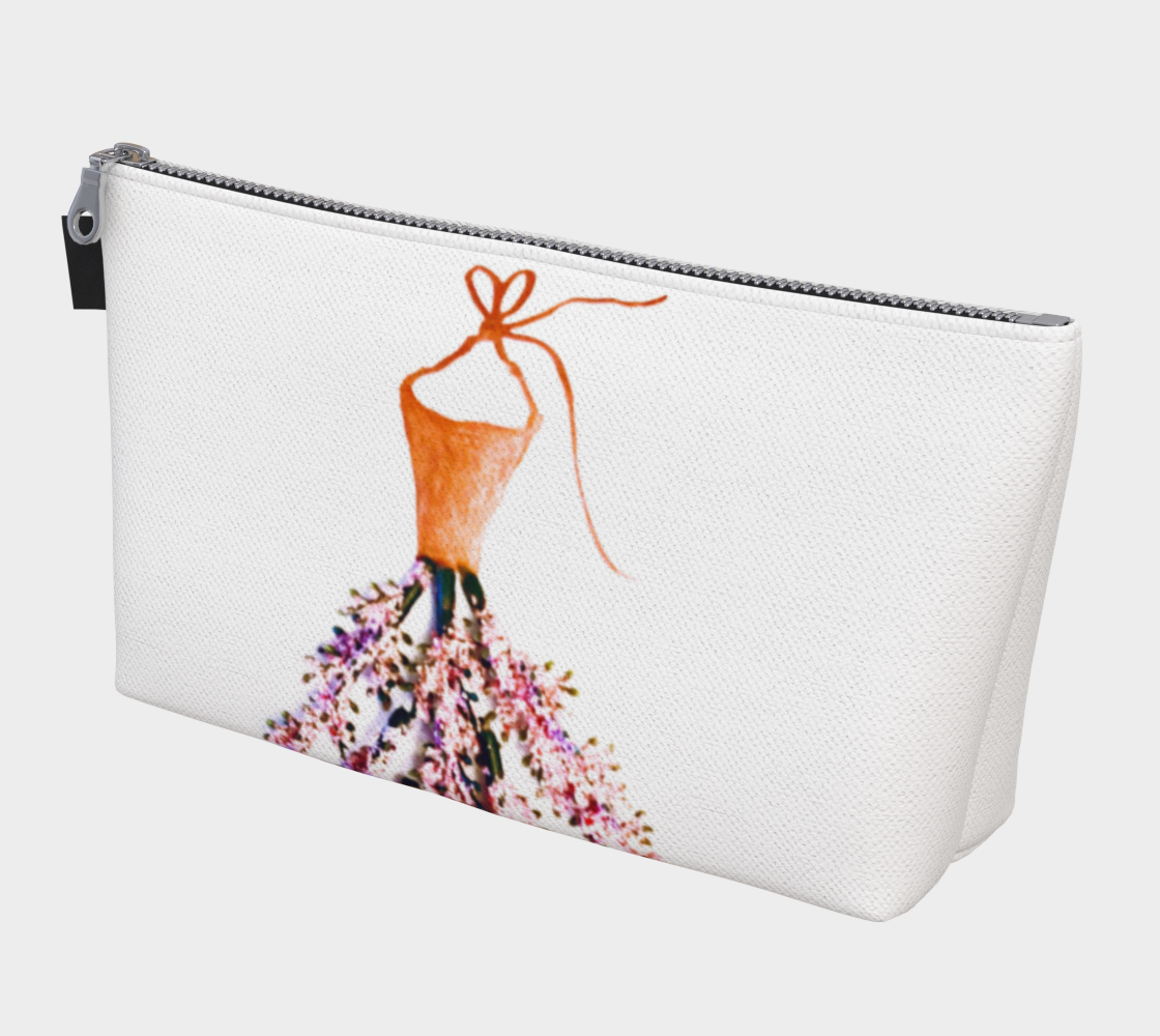 Barella Girl Orange Blossom White Makeup Bag