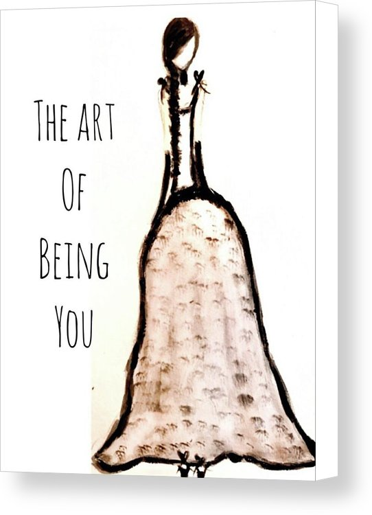 Barella Girl The Art Of Being You - Canvas Print
