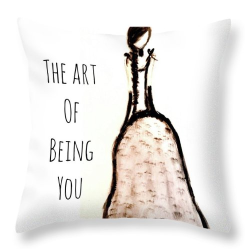 Barella Girl The Art Of Being You - Throw Pillow