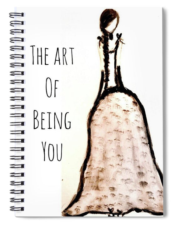 Barella Girl The Art Of Being You - Spiral Notebook