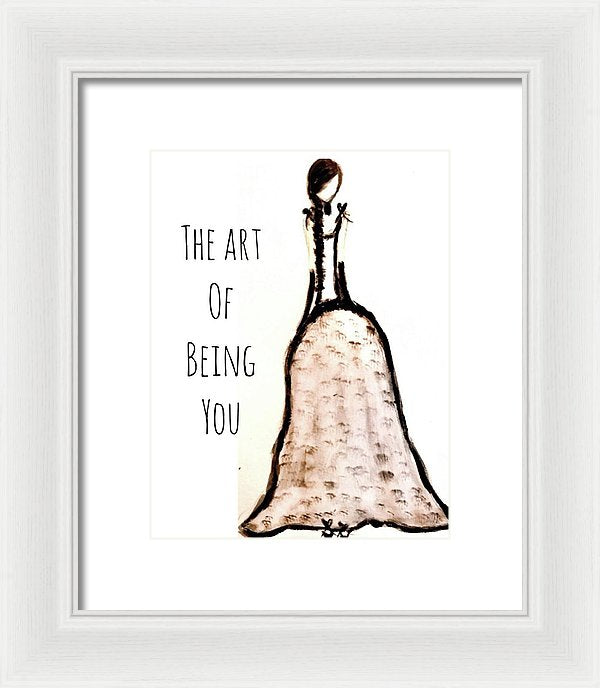 Barella Girl The Art Of Being You - Framed Print