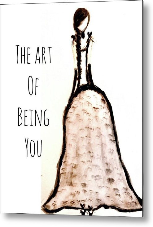 Barella Girl The Art Of Being You - Metal Print