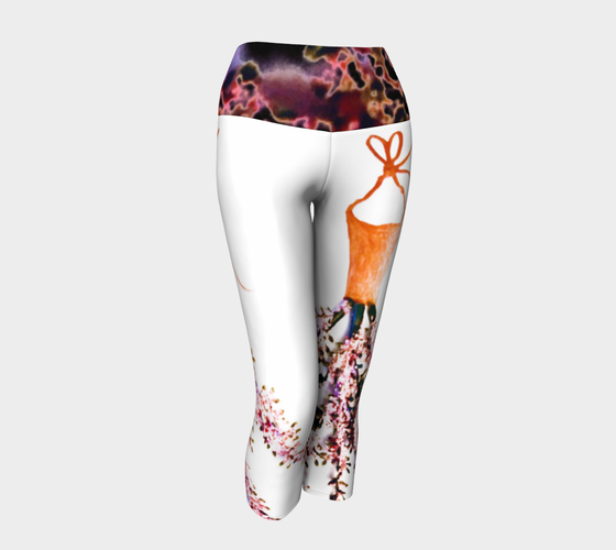 Barella Girl Orange Blossom White Yoga Capris