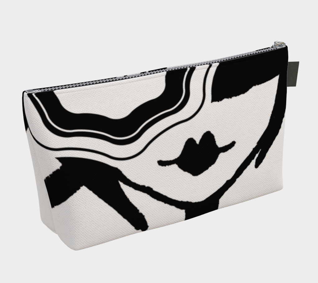 Barella Girl Lip Black and White Bag