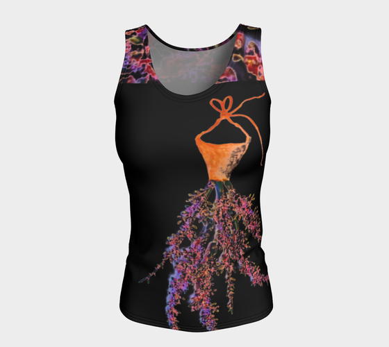 Barella Girl Orange Blossom Black Fitted Tank Top