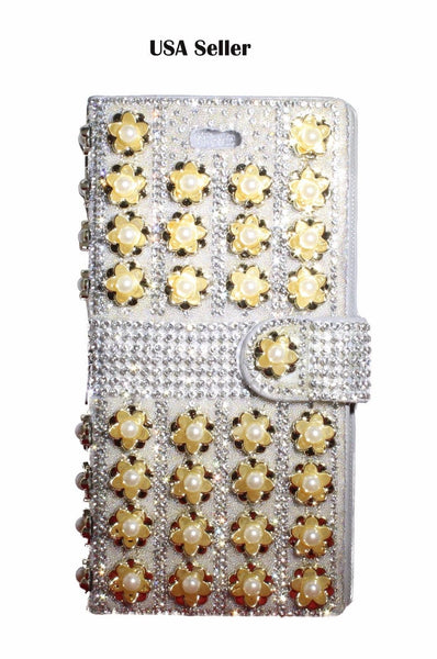 Iphone 7 Plus full diamond wallet/ glitter shiny protective Fancy wallet/ USA