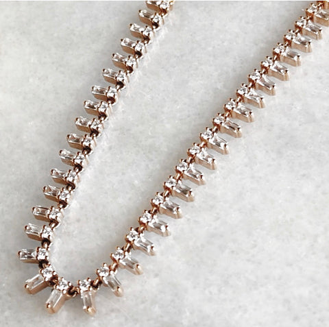 Icicle Baguette Diamond Necklace