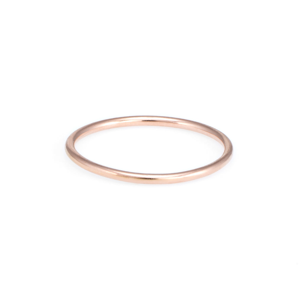 Children's First Gold Ring | Rose Gold | The Storm Jewelry | Fine Jewelry Made in Los Angeles - committed to empowering female equality, celebrating forever friendships & championing future generations of women.