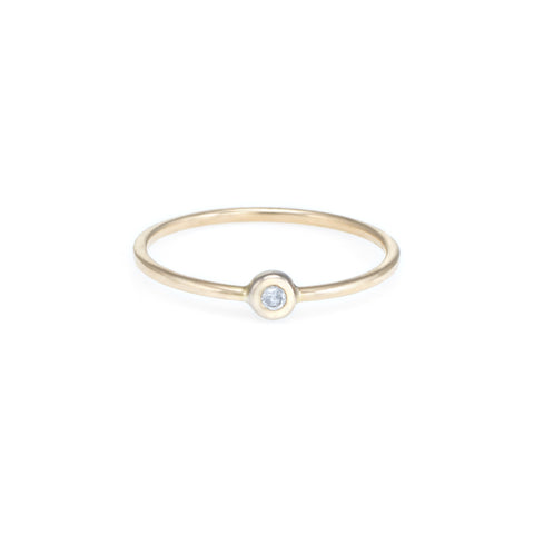 Children's Diamond Solitaire Ring | Yellow Gold | The Storm Jewelry | Fine Jewelry Made in Los Angeles - committed to empowering female equality, celebrating forever friendships & championing future generations of women.