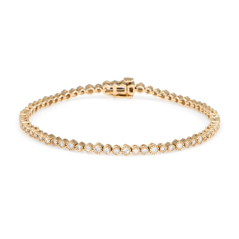 Eternity Diamond Tennis Bracelet | 14k Yellow Gold | White Diamonds | The Storm Jewelry | Fine Jewelry Made in Los Angeles - committed to empowering female equality, celebrating forever friendships & championing future generations of women.