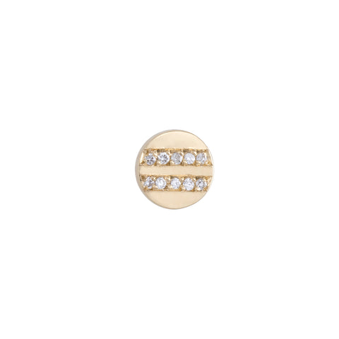 Equality Diamond Stud | 14k Yellow Gold | The Storm Jewelry | Fine Jewelry Made in Los Angeles - committed to empowering female equality, celebrating forever friendships & championing future generations of women.