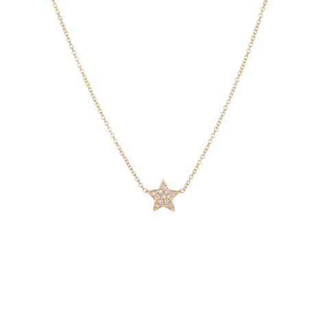 Children's Diamond Star Necklace | Yellow Gold | The Storm Jewelry | Fine Jewelry Made in Los Angeles - committed to empowering female equality, celebrating forever friendships & championing future generations of women.