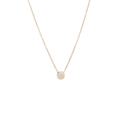 Equality Diamond Charm Necklace | 14k Yellow Gold | The Storm Jewelry | Fine Jewelry Made in Los Angeles - committed to empowering female equality, celebrating forever friendships & championing future generations of women.