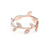 Children's Diamond Leaf Ring | Rose Gold | The Storm Jewelry | Fine Jewelry Made in Los Angeles - committed to empowering female equality, celebrating forever friendships & championing future generations of women.