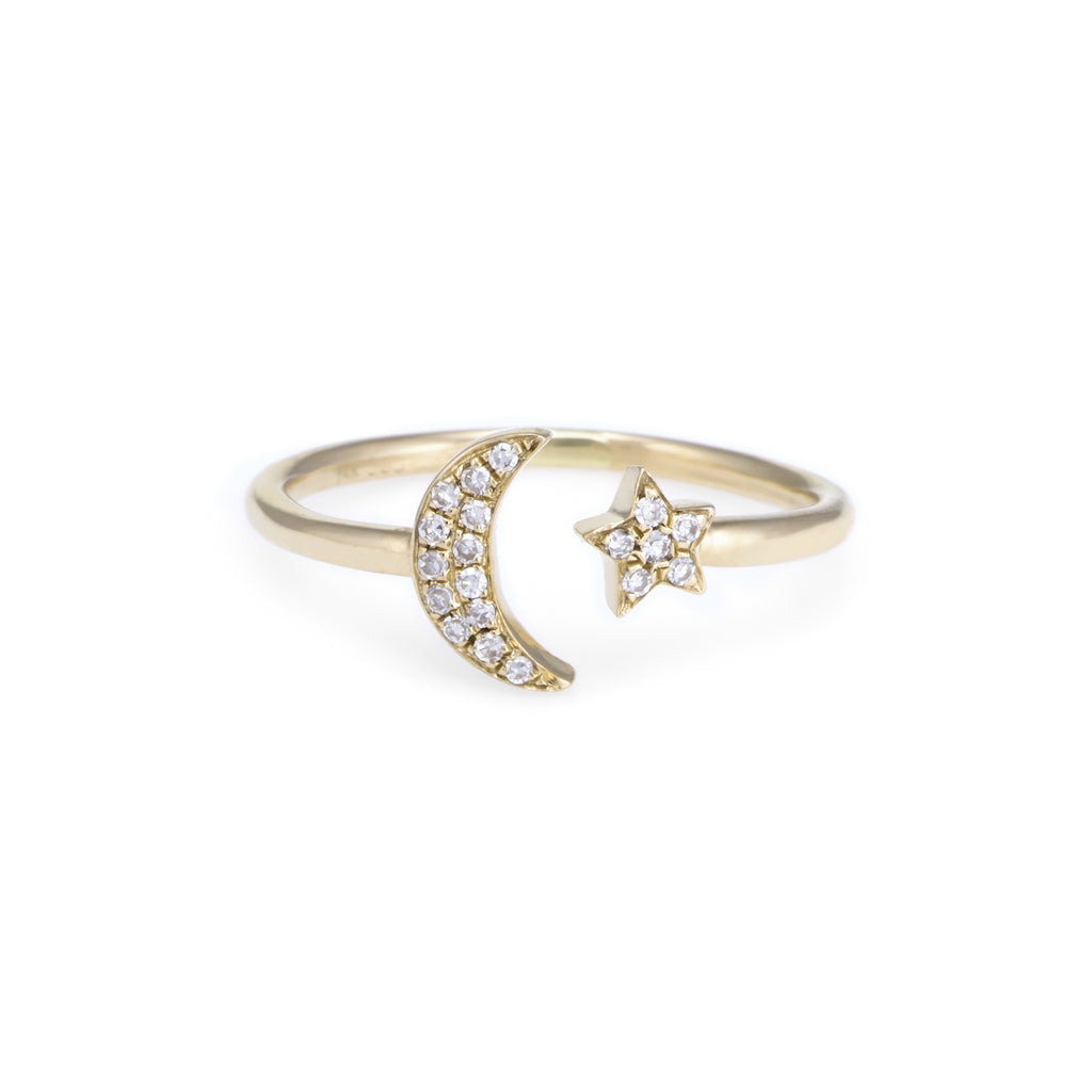 Children's Diamond Midnight Ring | Yellow Gold | The Storm Jewelry | Fine Jewelry Made in Los Angeles - committed to empowering female equality, celebrating forever friendships & championing future generations of women.