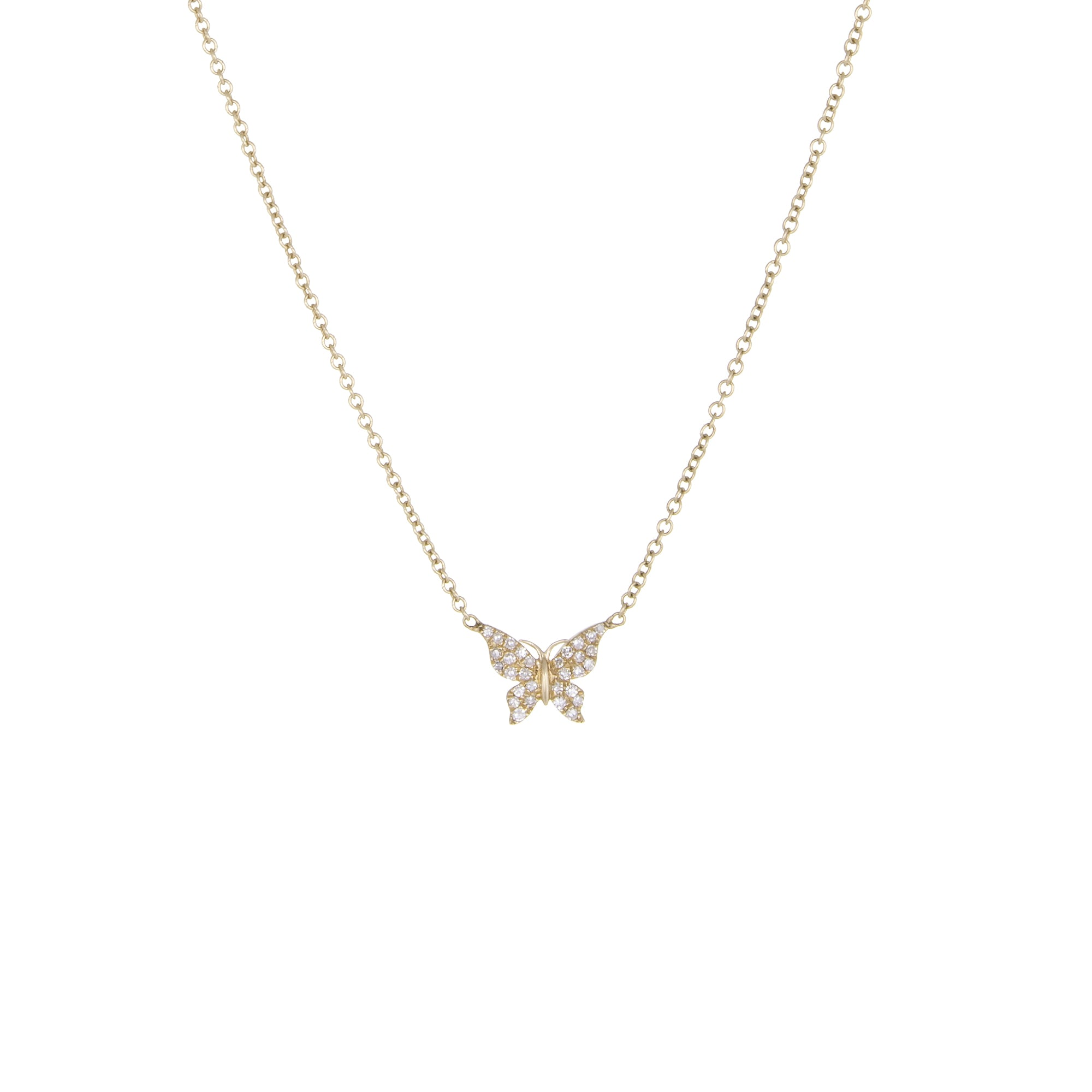 butterfly products van diamond white necklace arpels papillon cleef gold authentic