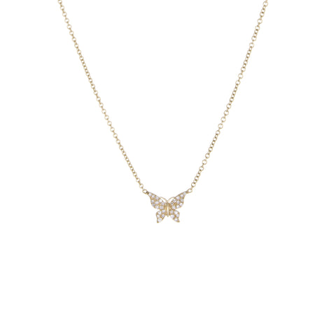 Children's Butterfly Diamond Necklace | Yellow Gold | The Storm Jewelry | Fine Jewelry Made in Los Angeles - committed to empowering female equality, celebrating forever friendships & championing future generations of women.