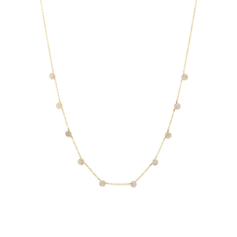 Diamond Disc Necklace | 14k Yellow Gold | The Storm Jewelry | Fine Jewelry Made in Los Angeles - committed to empowering female equality, celebrating forever friendships & championing future generations of women.