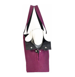 Berry Waxed Canvas Dog Carrier - Hoadin