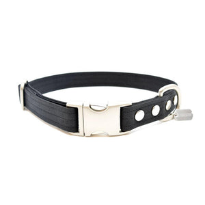Black Waxed Canvas Dog Collar - Hoadin