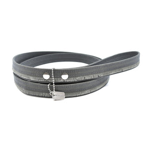 Charcoal Fringe Waxed Canvas Dog Leash - Hoadin