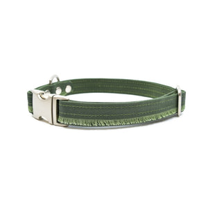 Forest Fringe Waxed Canvas Dog Collar - Hoadin