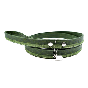 Forest Fringe Waxed Canvas Dog Leash - Hoadin