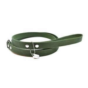 Forest Waxed Canvas Dog Leash - Hoadin