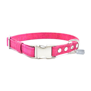 Fuchsia Cork Dog Collar - Hoadin