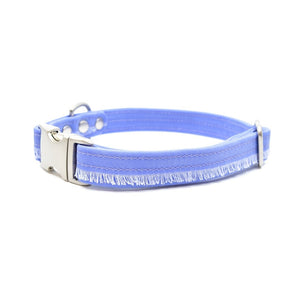 Lavender Fringe Waxed Canvas Dog Collar - Hoadin
