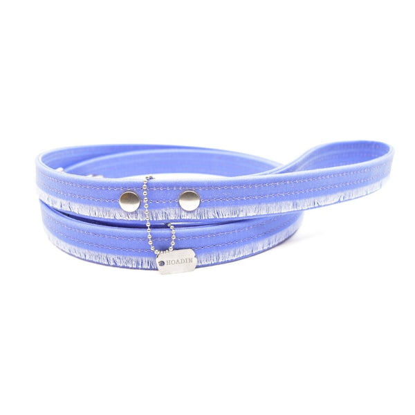 Lavender Fringe Waxed Canvas Dog Leash - Hoadin
