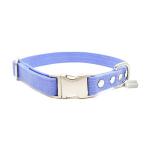 Lavender Waxed Canvas Dog Collar - Hoadin