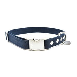 Midnight Waxed Canvas Dog Collar - Hoadin