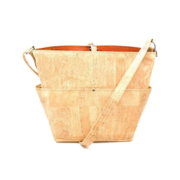 Natural Cork and Waxed Canvas Bag - Hoadin