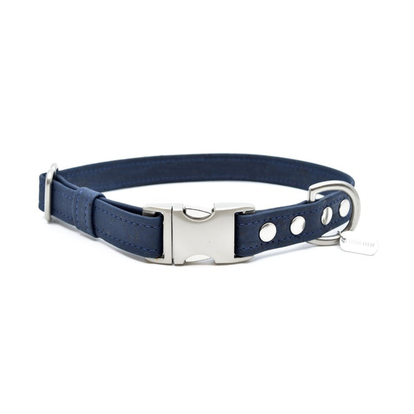 Navy Cork Dog Collar - Hoadin