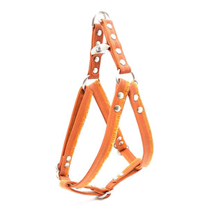 Orange Fringe Waxed Canvas Dog Harness - Hoadin
