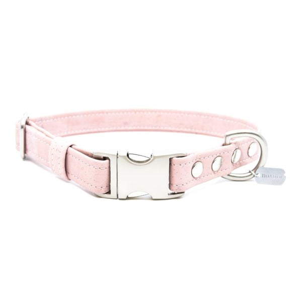 Pink Cork Dog Collar - Hoadin
