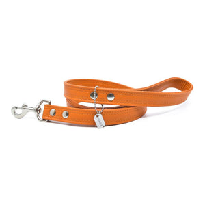 Pumpkin Sileather Dog Leash - Hoadin